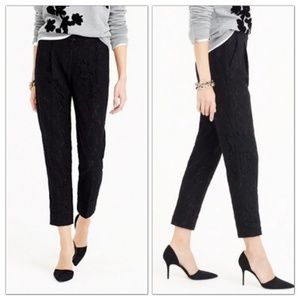 J. Crew Collection Cropped Pant in Leavers Lace